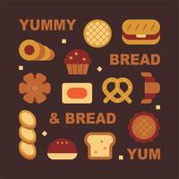 verschillende soorten brood vector