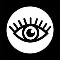 Teken van oogpictogram vector