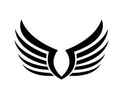 Vleugels vogel teken abstracte sjabloon pictogrammen app