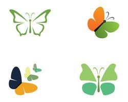 Butterfly schoonheid logo eenvoudig, kleurrijk pictogram. Logo. Vector illustratie