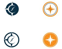 Kompaslogo en symboolsjabloon pictogram vector afbeelding