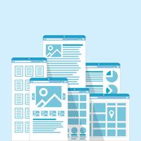 Verschillende browservensters vector