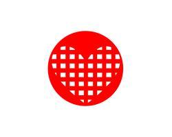 Hou van rode pictogrammen Logo en symbolen Vector sjabloon