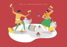 Vieren India Independece dag vectorillustratie