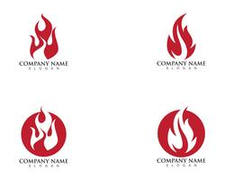 brand vlam logo sjabloon vector