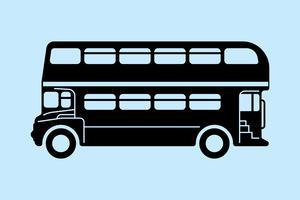 Londense dubbeldekkerbus vector