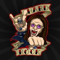 Hardrock-poster vector
