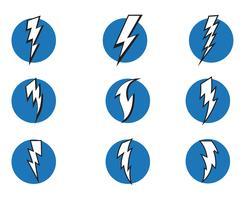 Bliksemschicht flash bliksemschicht iconen vector