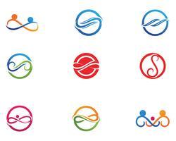 oneindigheidslogo en symboolsjabloon pictogrammen app vector