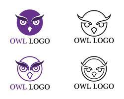 Uil hoofd vogel logo vector sjabloon dier