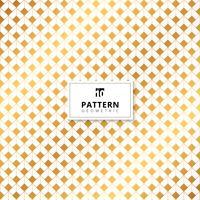 Abstract gouden vierkantenafmetingspatroon op witte achtergrond.