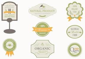Organische Label Vector Pack