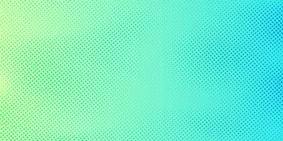 Abstracte heldergroene en blauwe gradiënkleurenachtergrond met halftone patroontextuur. Creatieve cover ontwerpsjabloon