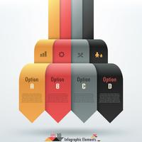 Moderne infographics opties banner. vector