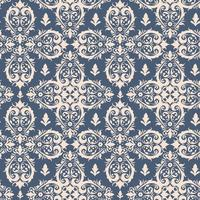Koninklijk Victoriaans naadloos patroon. Damast koninklijk patroon vector