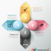 Moderne infographic optiesbanner. vector