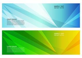 Blauwe en groene kleuren geometrische abstracte achtergrond met exemplaar ruimte, Vectorillustratie voor banner van uw zaken