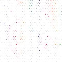 Regenboogkleur vector moderne geometrische driehoek abstracte achtergrond. Gestippelde textuurmalplaatje. Geometrisch patroon in halftone stijl