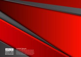 Rode en zwarte geometrische abstracte achtergrond met kopie ruimte, grafisch ontwerp vector