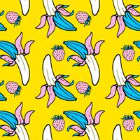 Zomer voedsel naadloze pop-art patroon vector