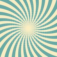 Circus grafische straal effecten groene retro kleur en licht bruin met halftone voor komische achtergrond.