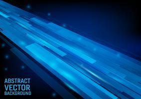 De vector geometrische blauwe grafische abstracte achtergrond van de kleurenillustratie