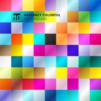 Abstracte kleurrijke vierkante patroonachtergrond. vector