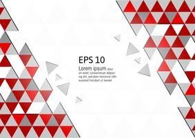 Vector abstract geometrisch rood en grijs modern ontwerp als achtergrond eps10 met exemplaarruimte