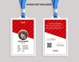 Rode mooie identiteitskaartsjabloon 18 vector