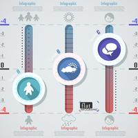 Plat Infographic ontwerp