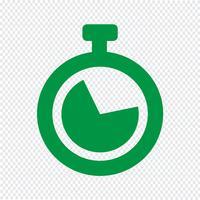 Klok pictogram vectorillustratie vector