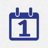 Kalender pictogram vectorillustratie