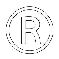 Geregistreerd handelsmerk pictogram vectorillustratie vector
