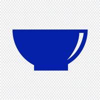 Kom pictogram vectorillustratie