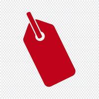 Tag pictogram vectorillustratie vector