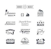 Summer Typography Vector Pack