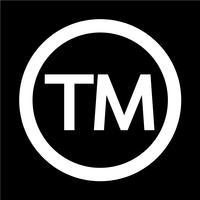 Handelsmerk Symbool pictogram vectorillustratie vector