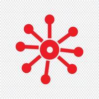 Zakelijke netwerk pictogram vectorillustratie