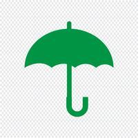 Paraplu pictogram vectorillustratie vector