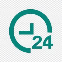 TIJD 24 pictogram vectorillustratie vector