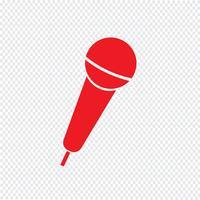 Microfoon pictogram vectorillustratie