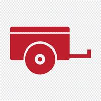 Auto aanhangwagen pictogram vectorillustratie