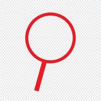 Zoek pictogram vectorillustratie vector