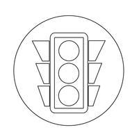 Verkeerslichtpictogram vector