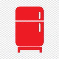 Koelkast pictogram vectorillustratie