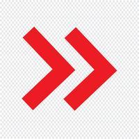 Pijl pictogram vectorillustratie vector