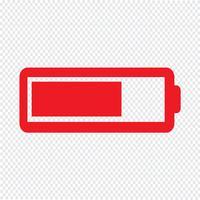 Batterij pictogram vectorillustratie