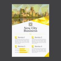 Professionele zakelijke brochure sjabloon vector