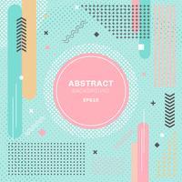 De abstracte pastelkleuren kleuren de geometrische decoratieve groene achtergrond van de elementsamenstelling. Ronde vorm en halftoonpatroon met cirkel tag.