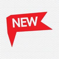 Nieuwe pictogram vectorillustratie